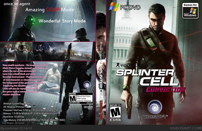 PC » Splinter Cell: Conviction Box Cover