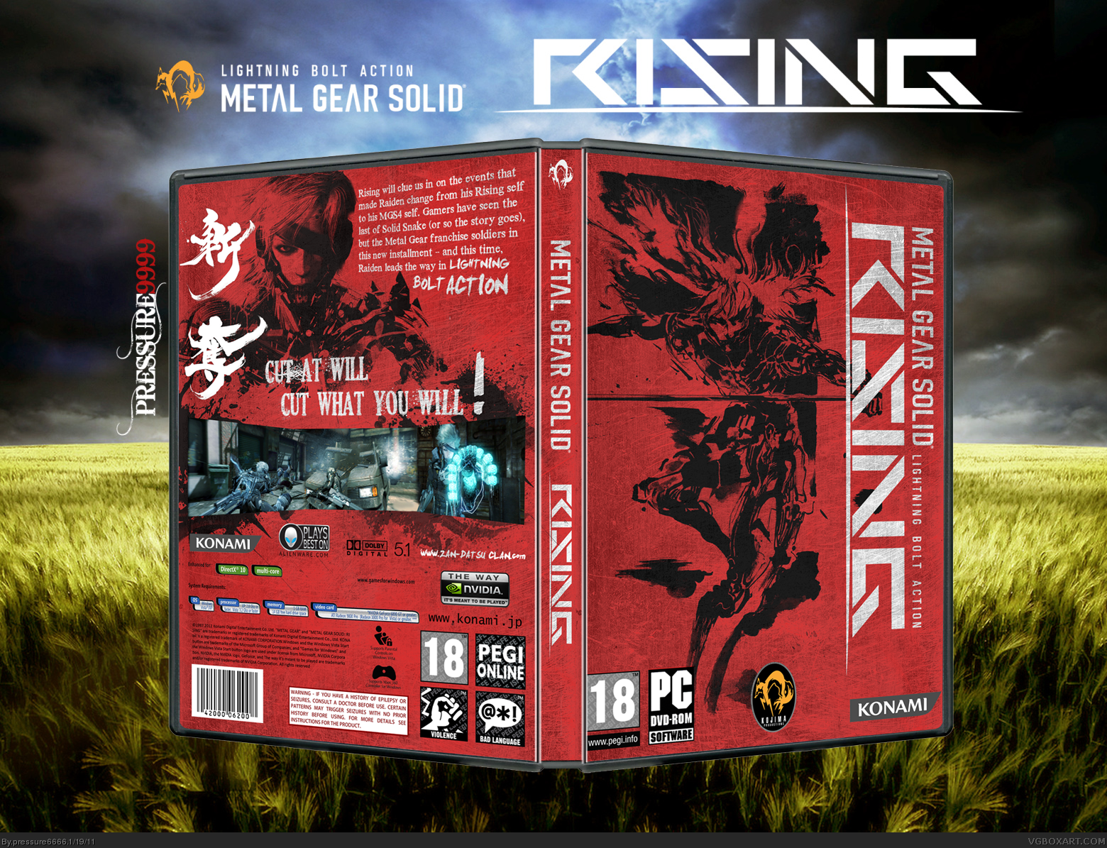 Metal Gear Solid Rising box cover
