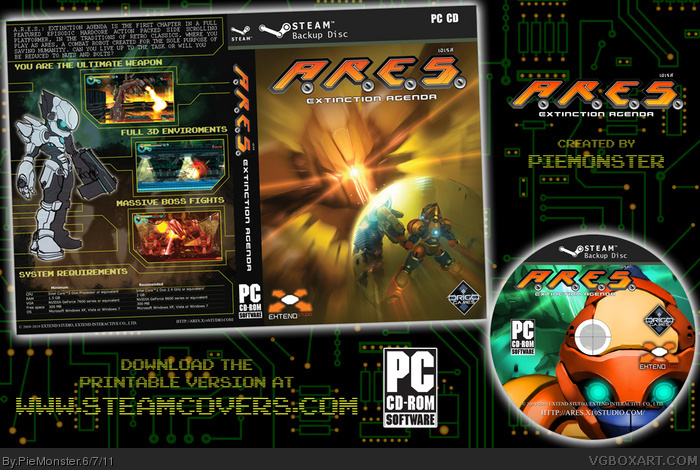 A.R.E.S.: Extinction Agenda box art cover