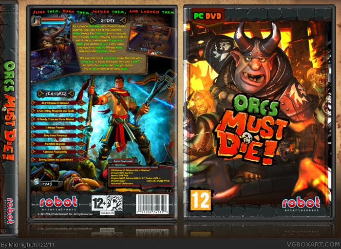 Orcs Must Die! box art cover