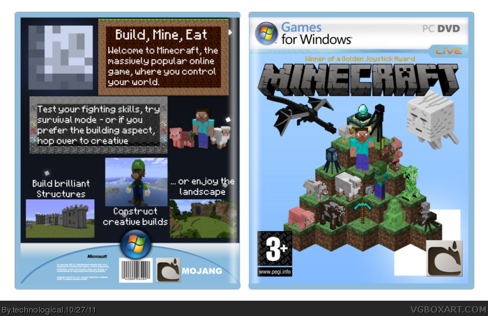 Minecraft PC Box Art Cover by technological