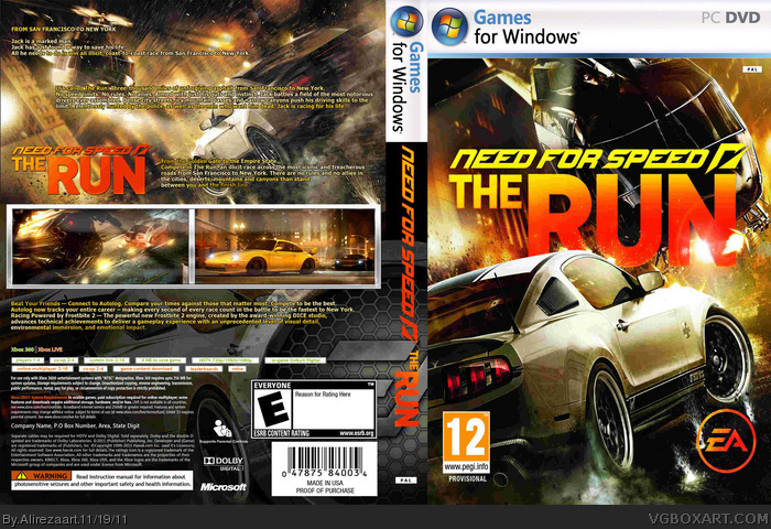 Need For Speed The Run pc Need For Speed The Run Box Art