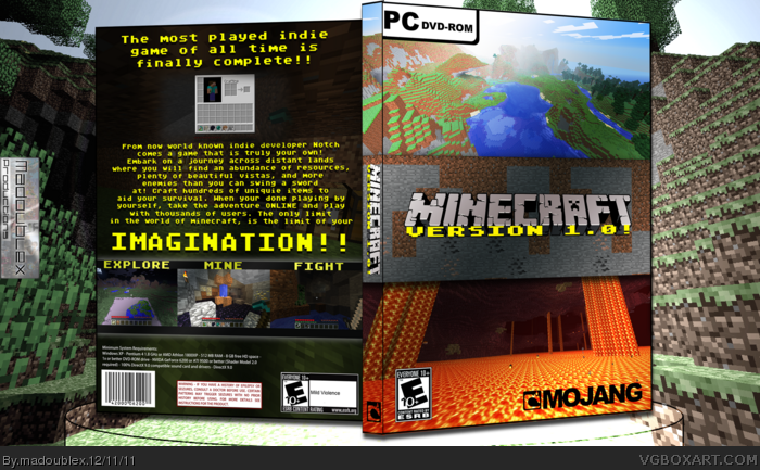 Purchase Minecraft Pc Game : Minecraft pc box art cover by madoublex