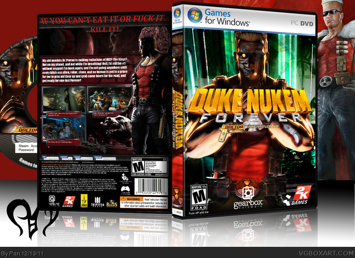 Duke Nukem Forever: The Dr. Who Cloned Me box art cover