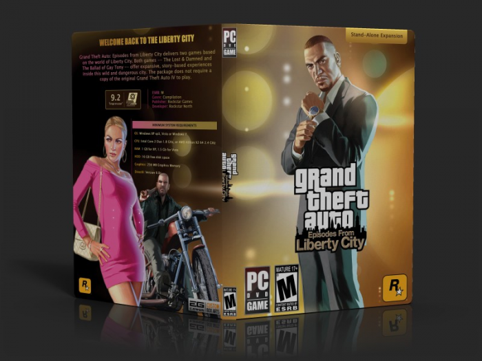 GTA: Episodes from Liberty City box art cover