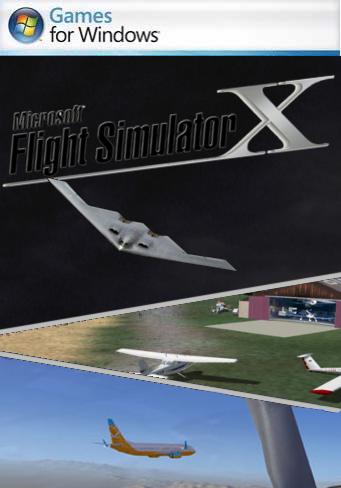 microsoft flight simulator x pc box art cover by