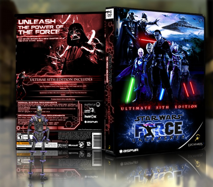 Star Wars The Force Unleashed: Sith Edition box art cover