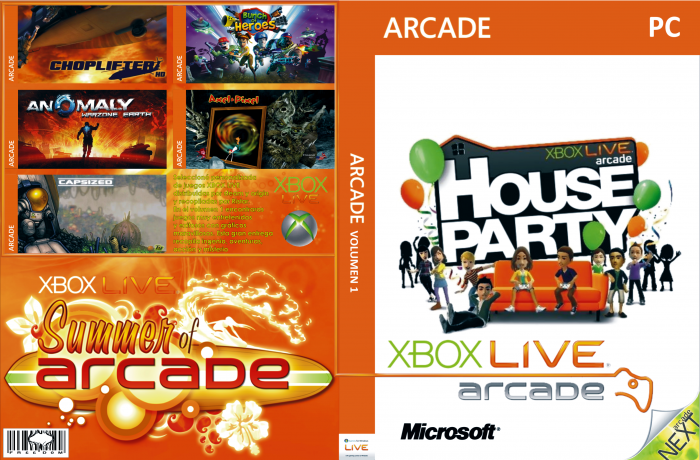Xbox Live Arcade Vol. 1.1 Cover Box box art cover