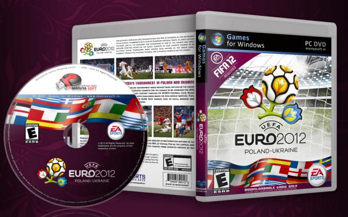 uefa euro 2012 pc box art cover by payam mazkouri. Black Bedroom Furniture Sets. Home Design Ideas