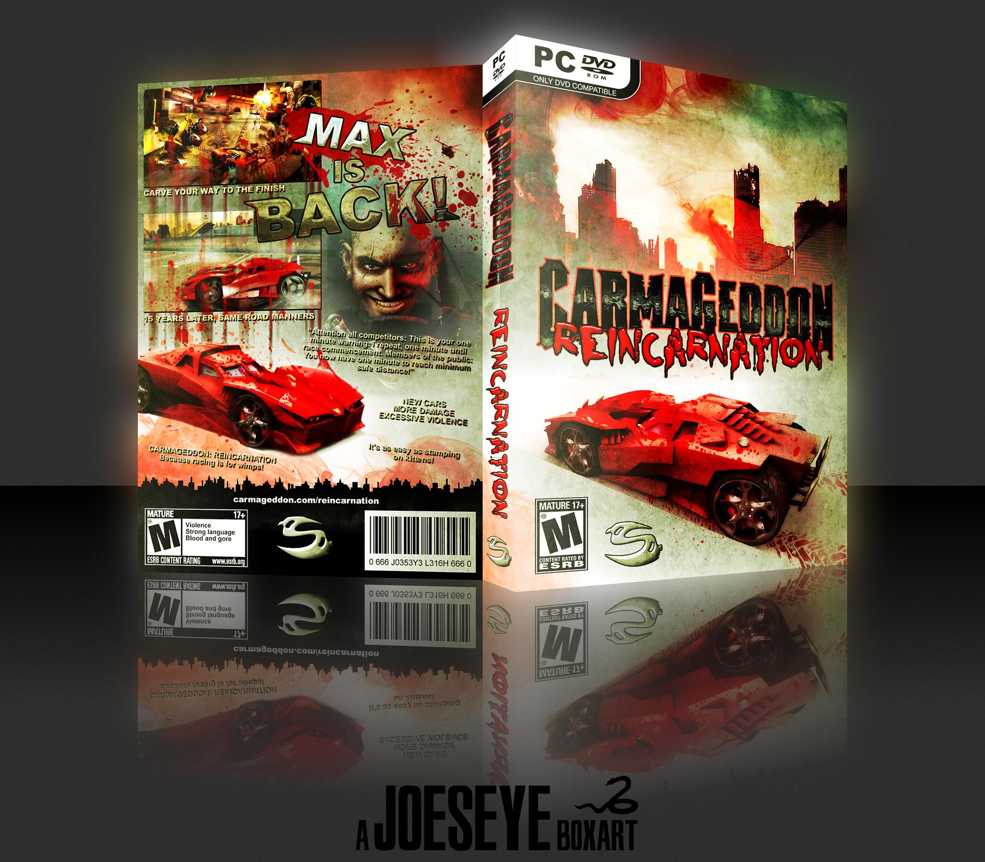 Carmageddon >> Carmageddon: Reincarnation PC Box Art Cover by Joeseye