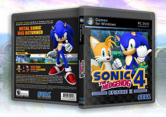 Sonic the Hedgehog 4: Episode II box art cover