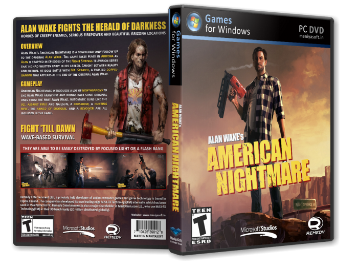 Alan Wake's American Nightmare box art cover