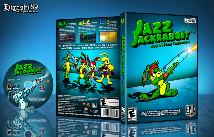 Jazz Jackrabbit box art cover