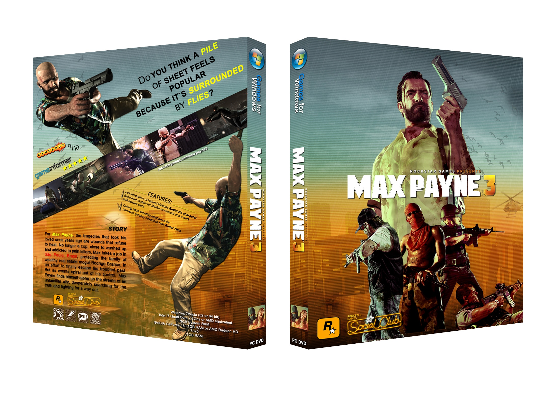 Max Payne 3 box cover