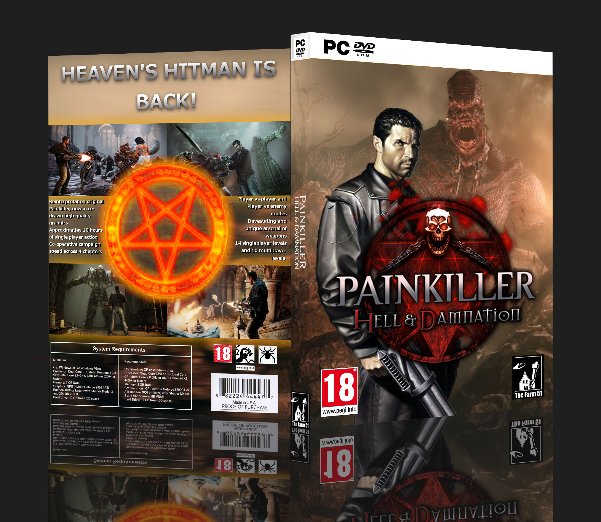 Viewing full size Painkiller: Hell & Damnation box cover by