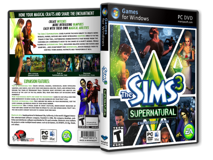 [Game PC] The Sims 3: Supernatural [ 2012 / Mô phỏng / Full 1 link 2.2 Gb ]