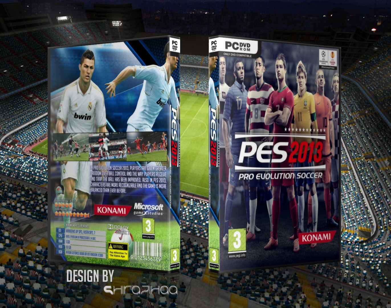 Viewing full size Pes 2013 box cover by shirazihaa [ Back ]