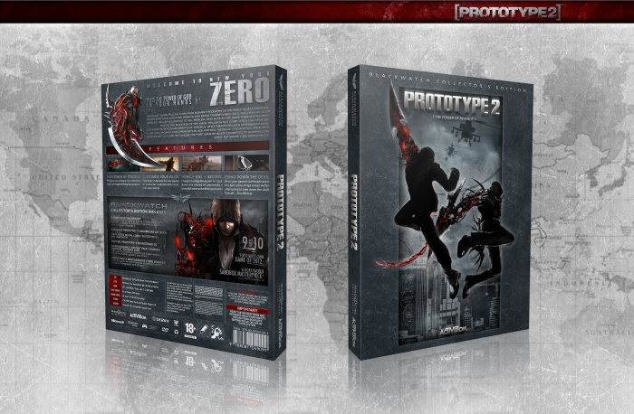 Prototype 2 Blackwatch Collector's Edition box art cover
