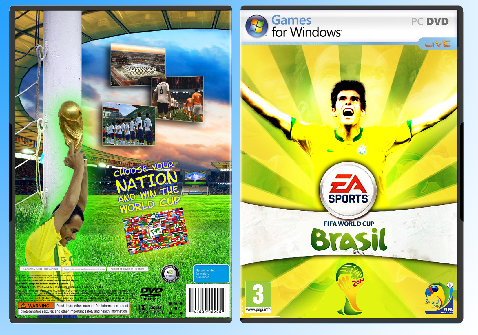 Viewing full size FIFA World Cup 2014 Brazil box cover by Deyan [ Back ...