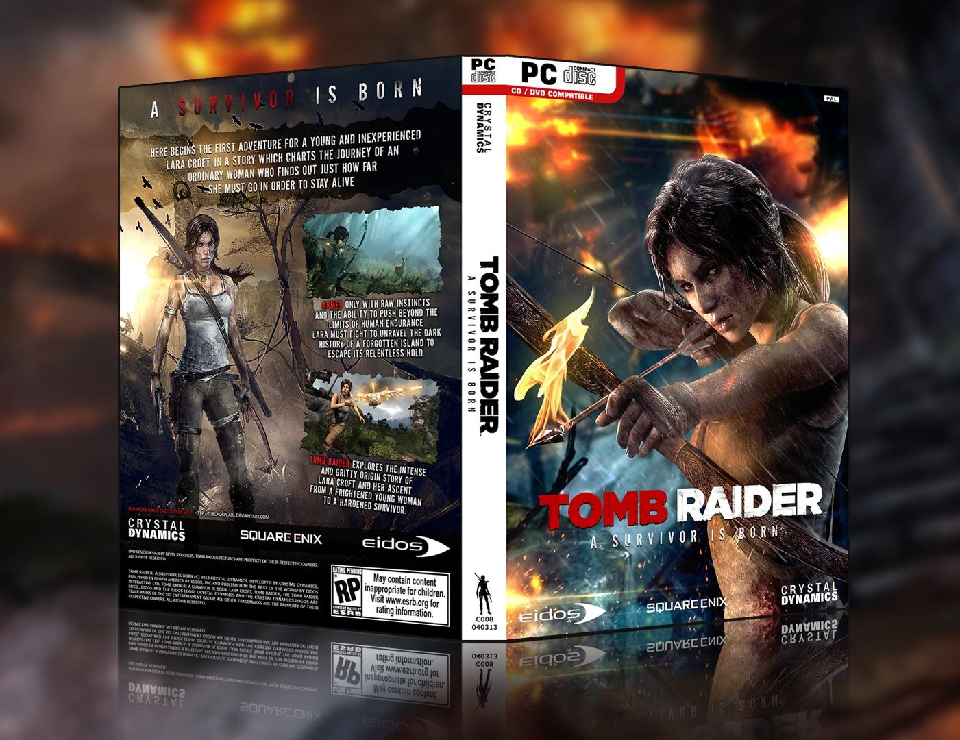 tomb raider pc box art cover by sl1kz