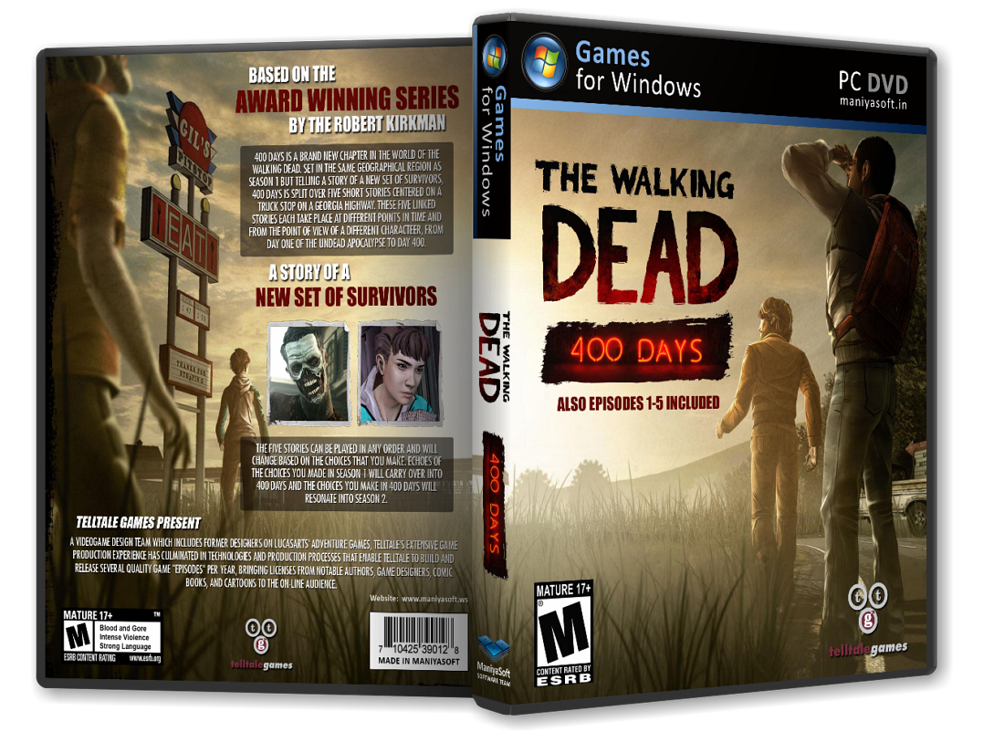 The Walking Dead: 400 Days box cover