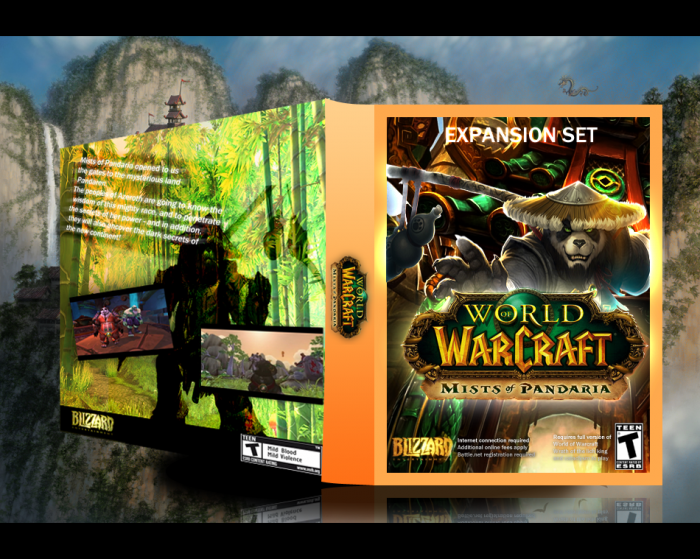 World of Warcraft : Mists of Pandaria box art cover