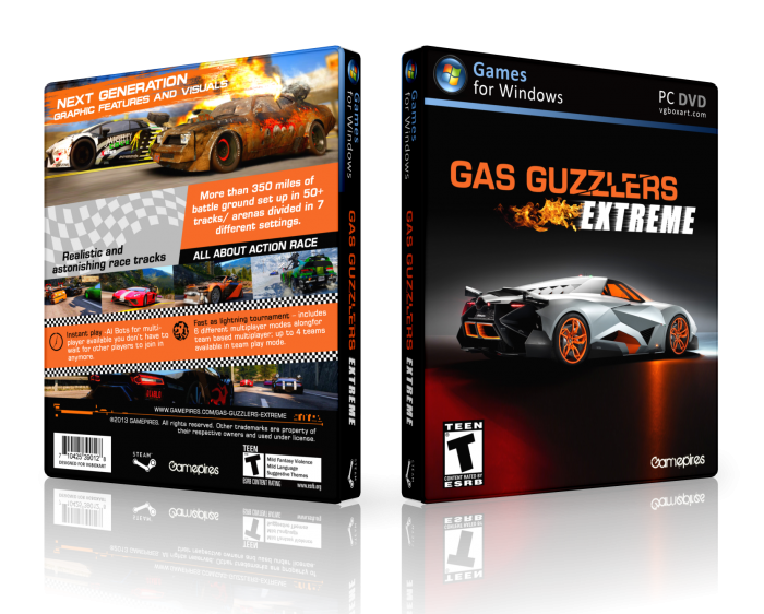 Gas Guzzlers Extreme box art cover