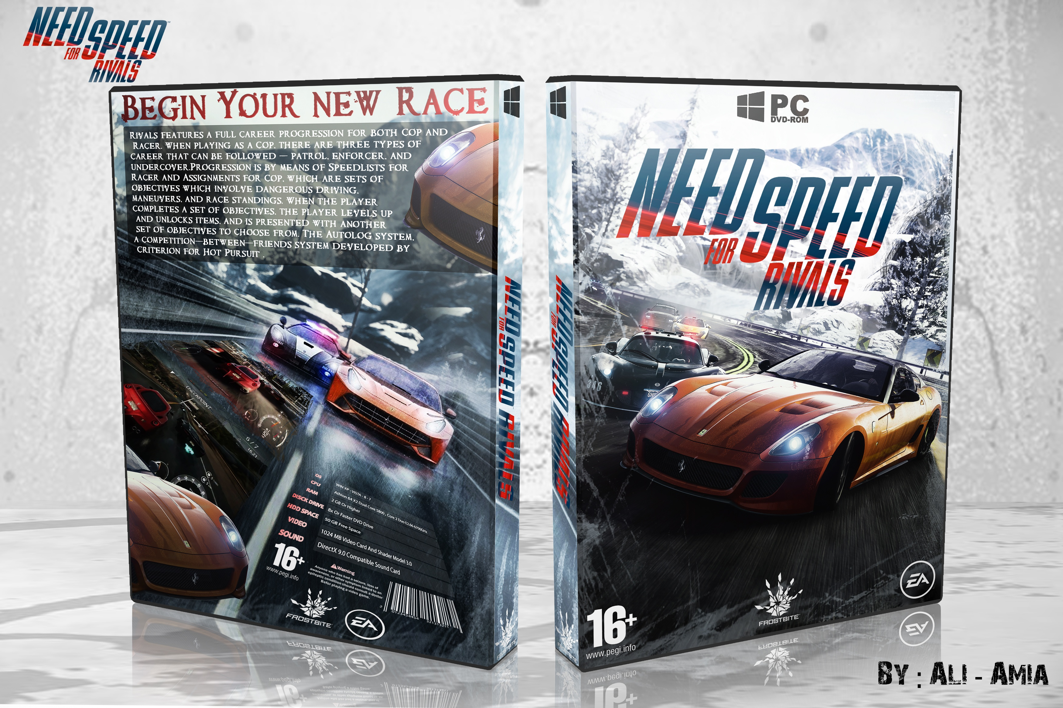 Need For Speed Rivals Pc Box Art Cover By Amia