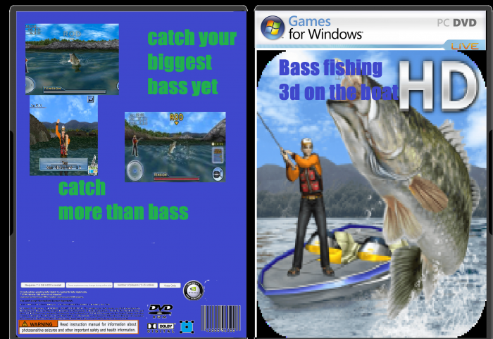 Bass fishing 3d on the boat hd pc box art cover by for Ps4 bass fishing games