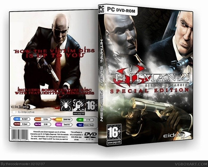 Hitman 2 Silent Assassin Pc Box Art Cover By Thecodemaster