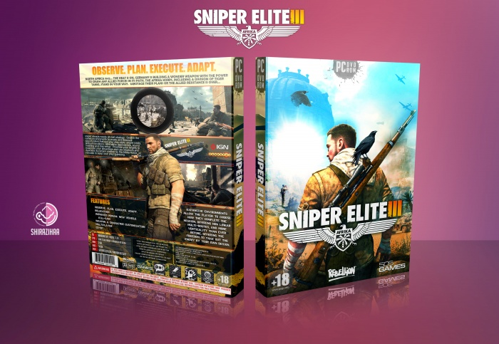 Sniper Elite 3 box art cover