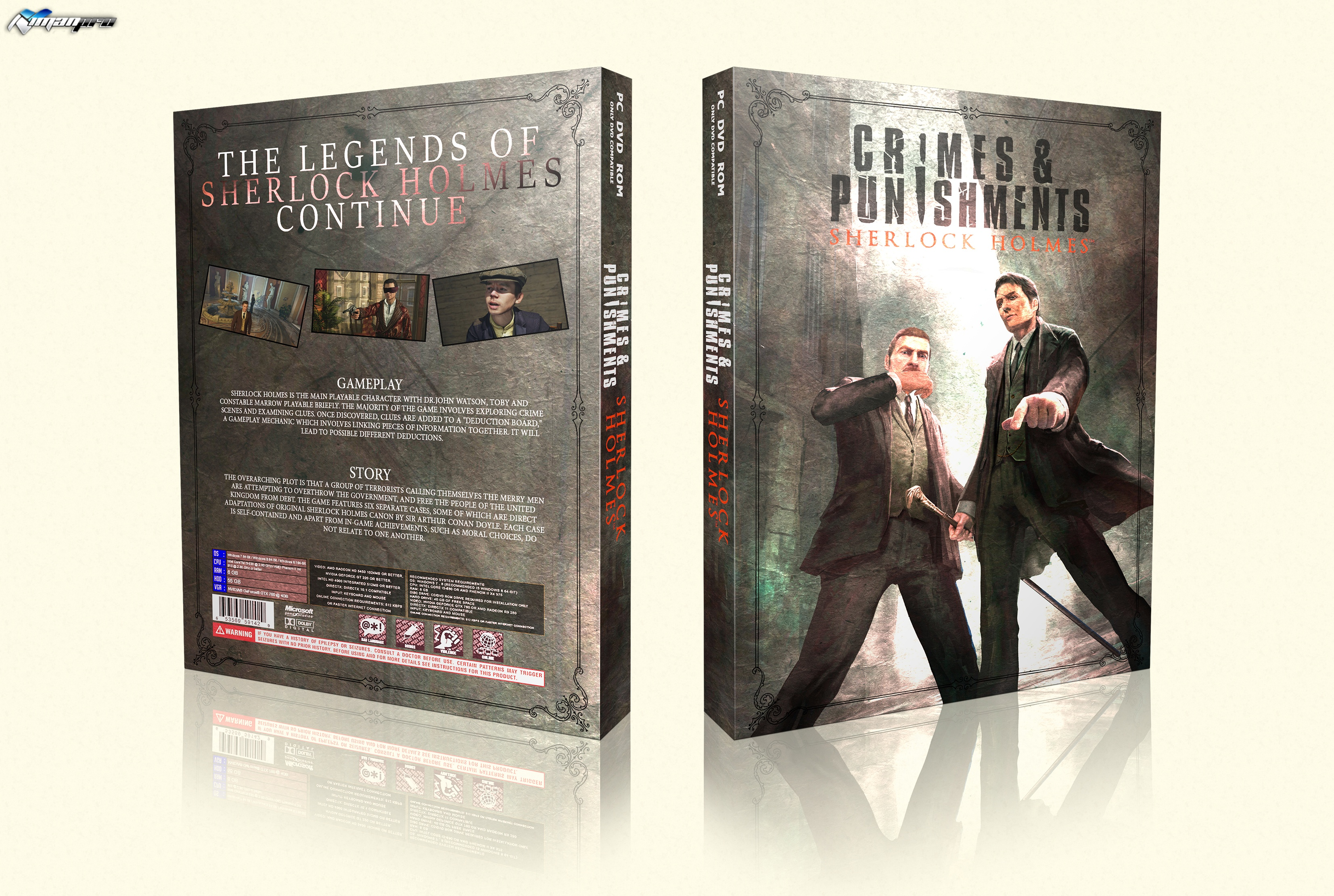 Sherlock Holmes Crimes and Punishments box cover