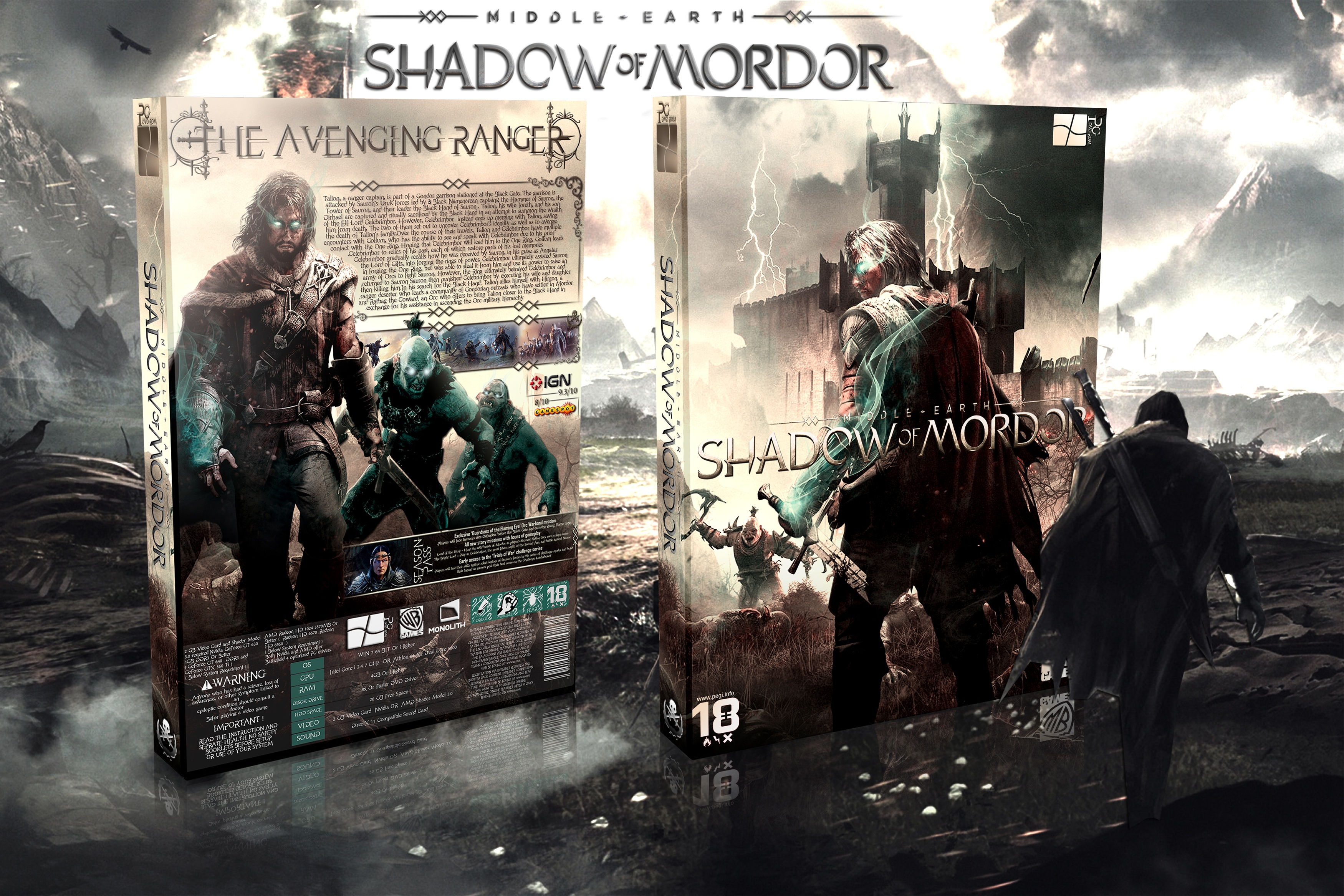 Middle-earth: Shadow of Mordor box cover