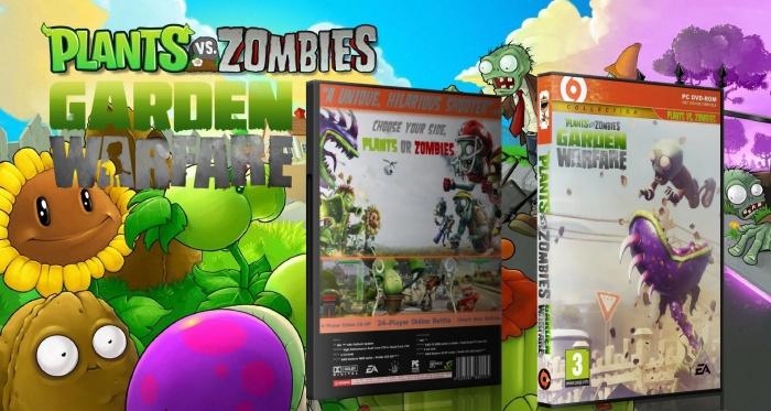 Plants Vs Zombies Garden Warfare Pc Box Art Cover By