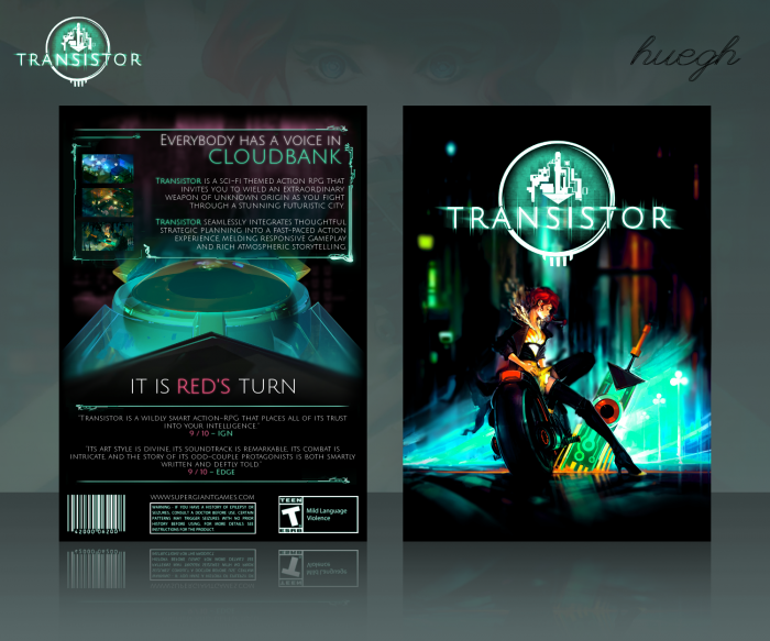 Book Cover Tutorial Xbox One : Transistor pc box art cover by huegh