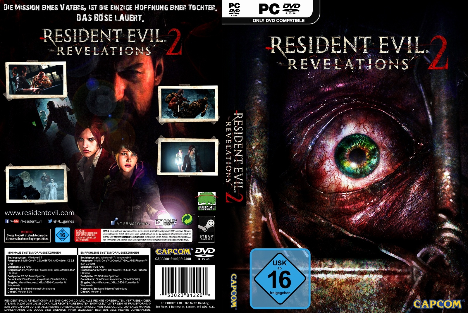 RESIDENT EVIL REVELATIONS 2 box cover
