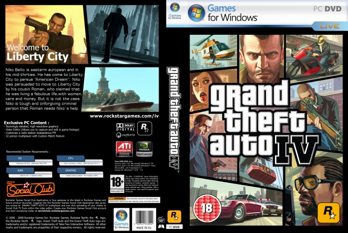 Gta 6 Cover: GTA IV: PC Game Of The Year Edition PC Box Art Cover By Arroba