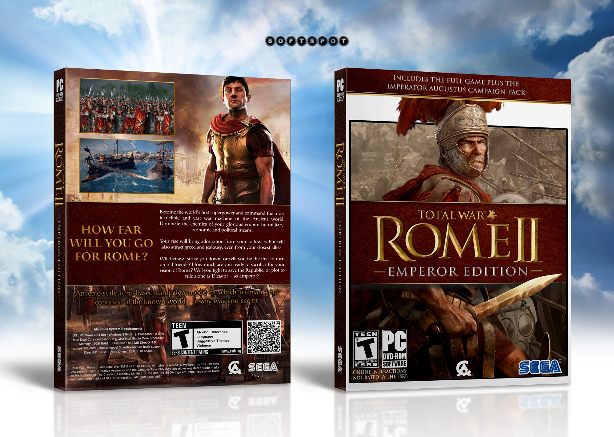 Total War Rome II : Emperor Edition box cover