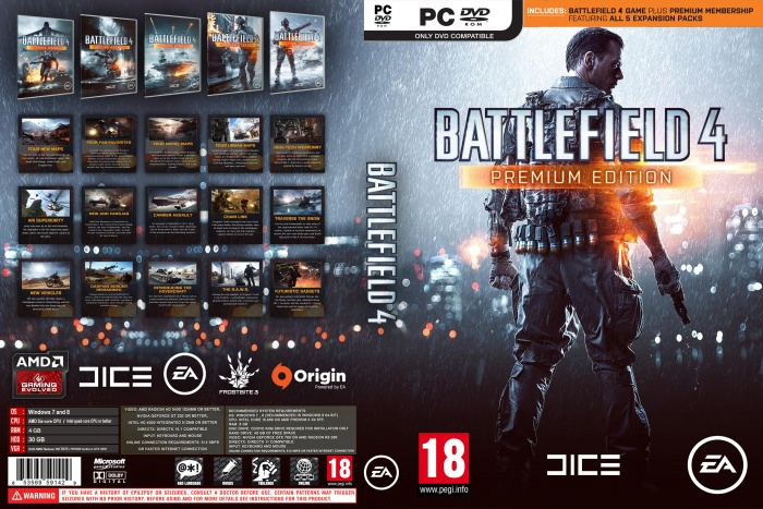 Battlefield 4 Premium Edition PC Box Art Cover by Reza05