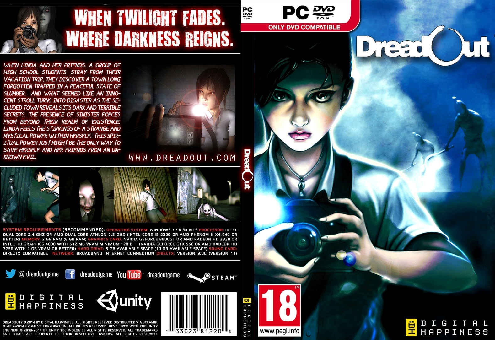 Dreadout Pc Box Art Cover By Aho