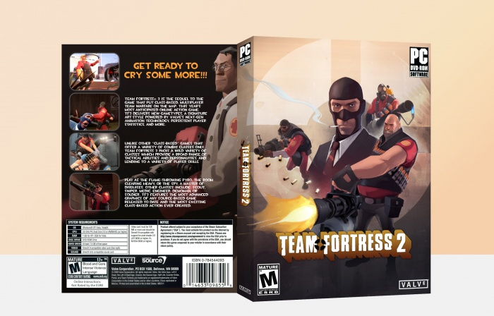 team fortress 2 pc box art cover by nded