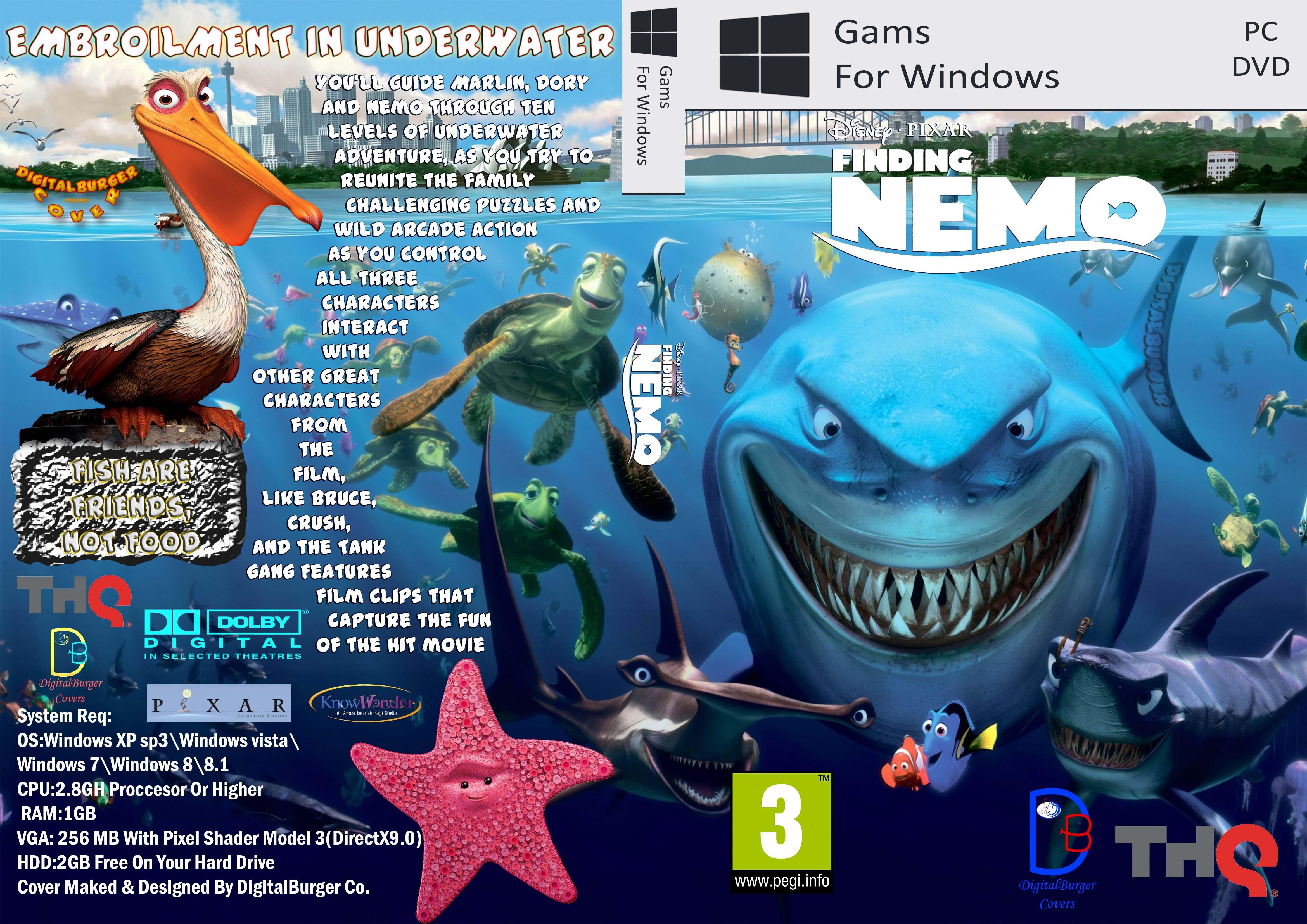Finding Nemo DB Cover PC Box Art By DigitalBurger