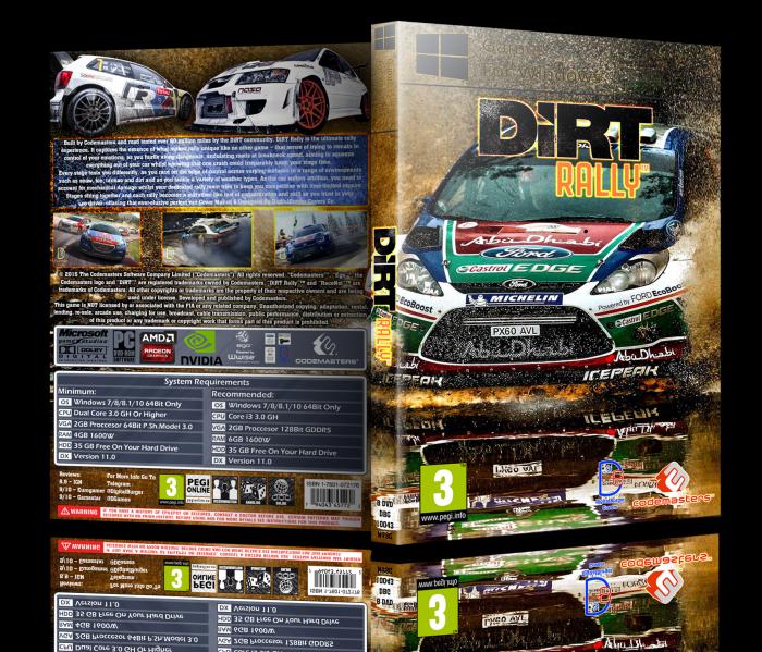 Dirt Rally Box Art Cover