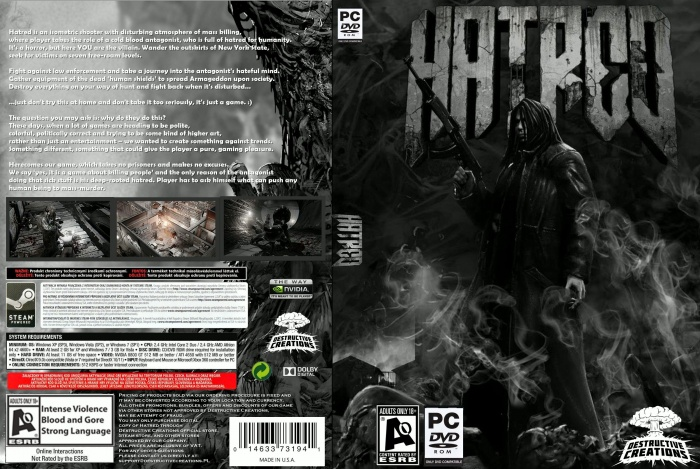 Hatred Pc Box Art Cover By Limak2468