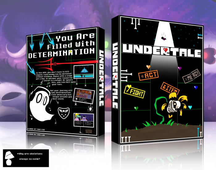Book Cover Architecture Xbox One : Undertale pc box art cover by agentlampshade