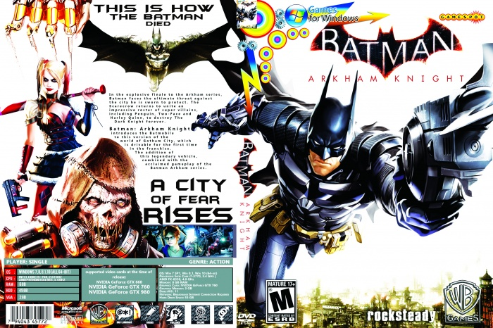 Batman Arkham Knight PC Box Art Cover by snipermanulu