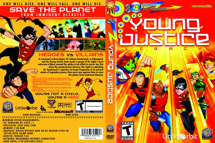 Young Justice Legacy PC Box Art Cover by snipermanulu Young Justice Legacy Cover