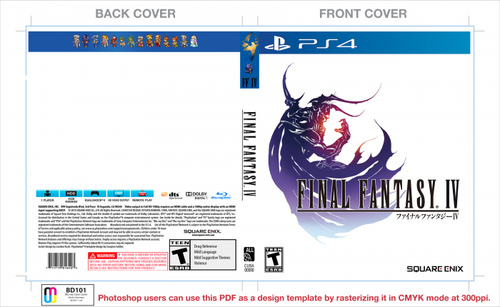 Final Fantasy IV Box Cover box art cover