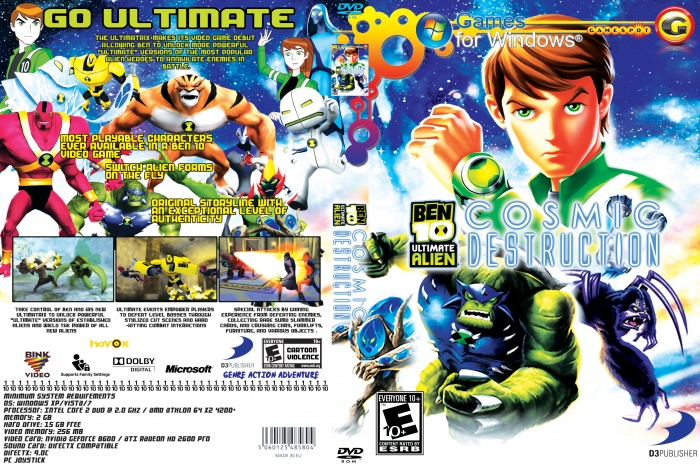 ben 10 cosmic destruction box art cover