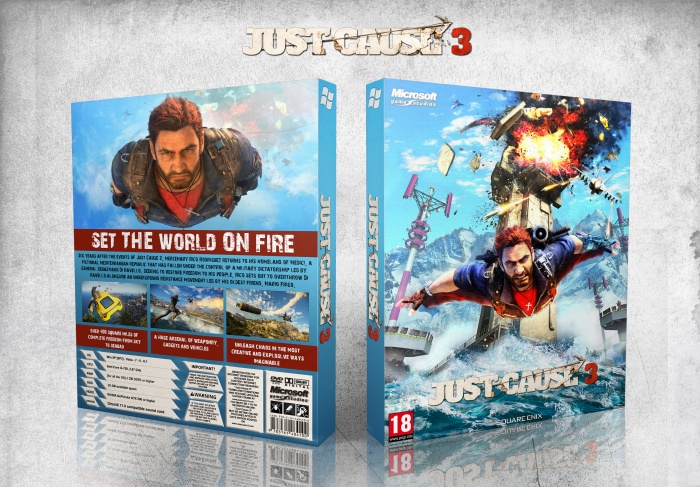 Just cause 3 box art cover